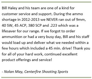 Centerfire Shooting Sports Testimonial